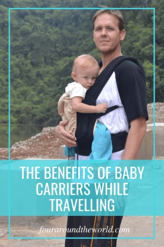 The benefits of babywearing while travelling. Baby carriers for travel. Best baby carriers.