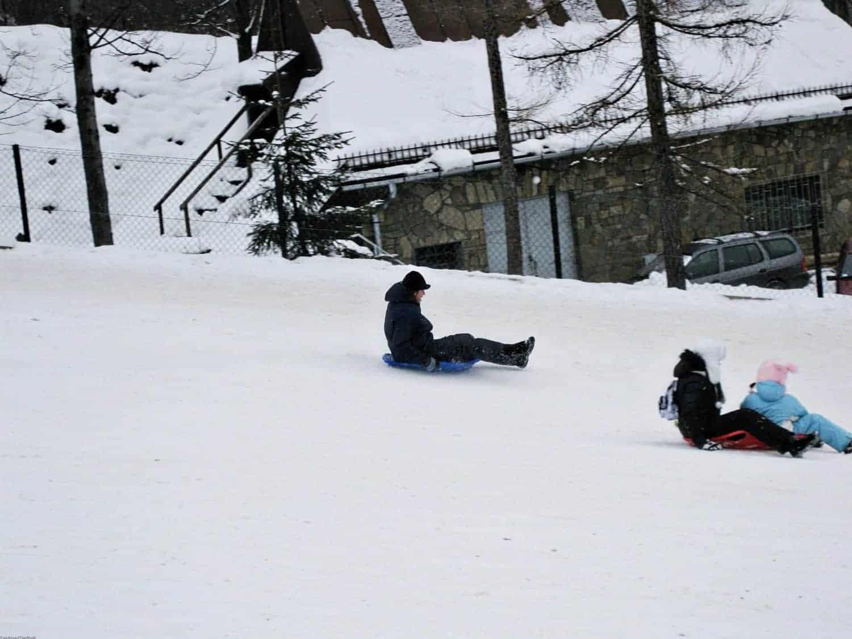 tobogganing in Zakopane