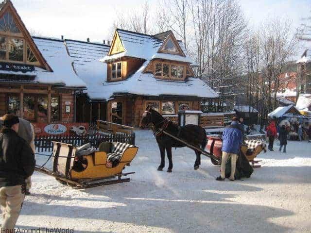 kulig ride in Zakopane with kids