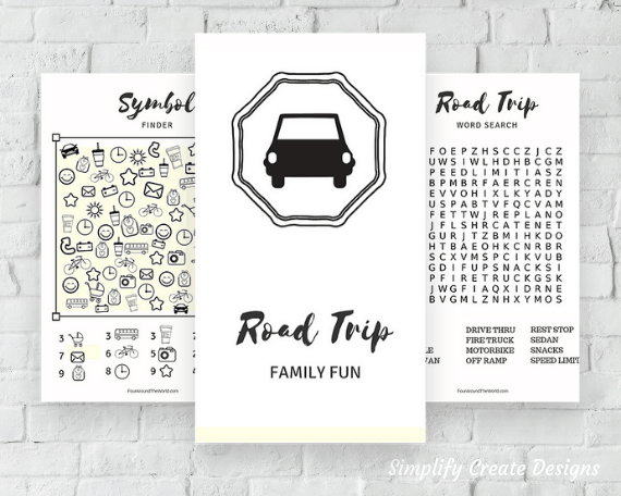 Printable road trip activity set