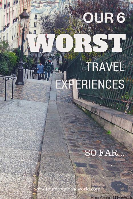 Our 6 worst travel experiences so far - sharing some of the travel challenges we have faced