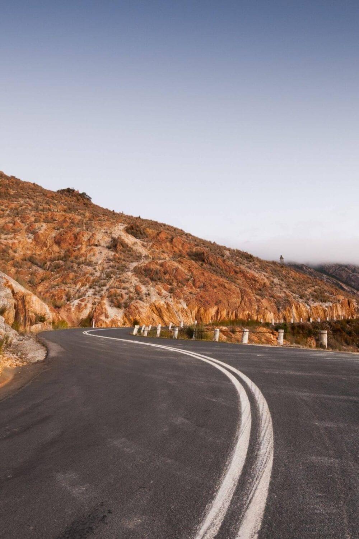 Hobart to launceston road trip mountain road