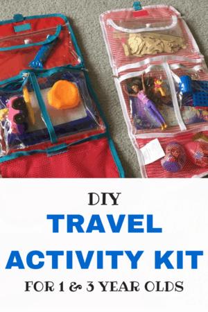 DIY kids travel activity kit