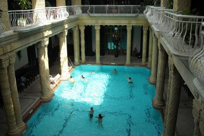 Budapest Gellert Baths with kids