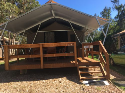 Discovery Park Byron Bay Holiday Park review. Byron Bay family accommodation