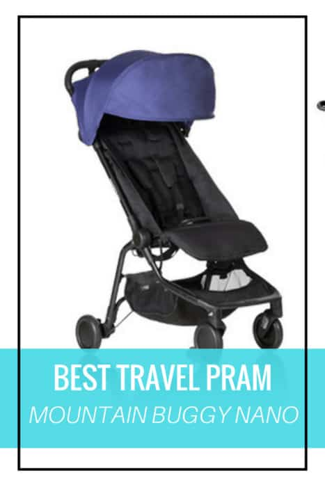 Best travel pram - Mountain Buggy nano compact stroller