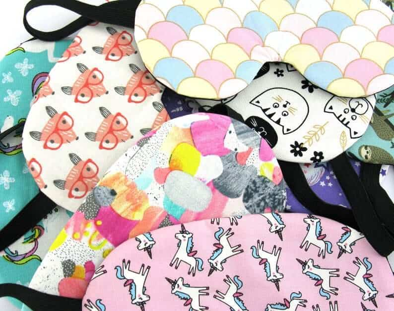 Patterned sleeping mask for kids