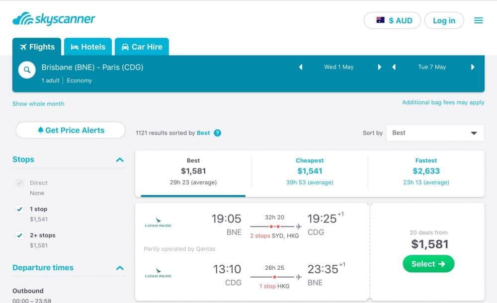 How to Find the Cheapest Flights skyscanner results
