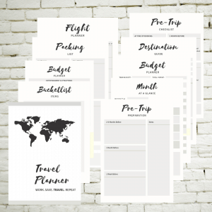 Printable travel planner 10 pages
