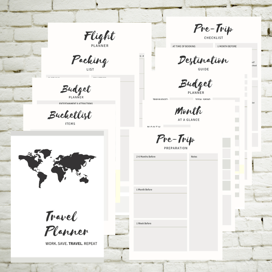 image relating to Travel Planner Printable referred to as PRINTABLE Drive PLANNER