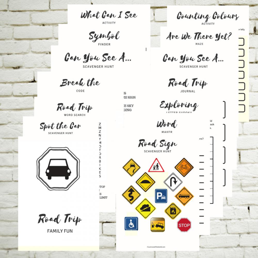 Printable road trip activity bundle