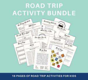 road trip activity printables