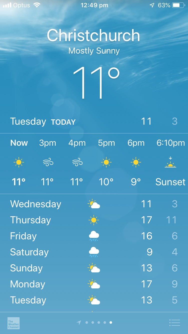 Weather NZ app