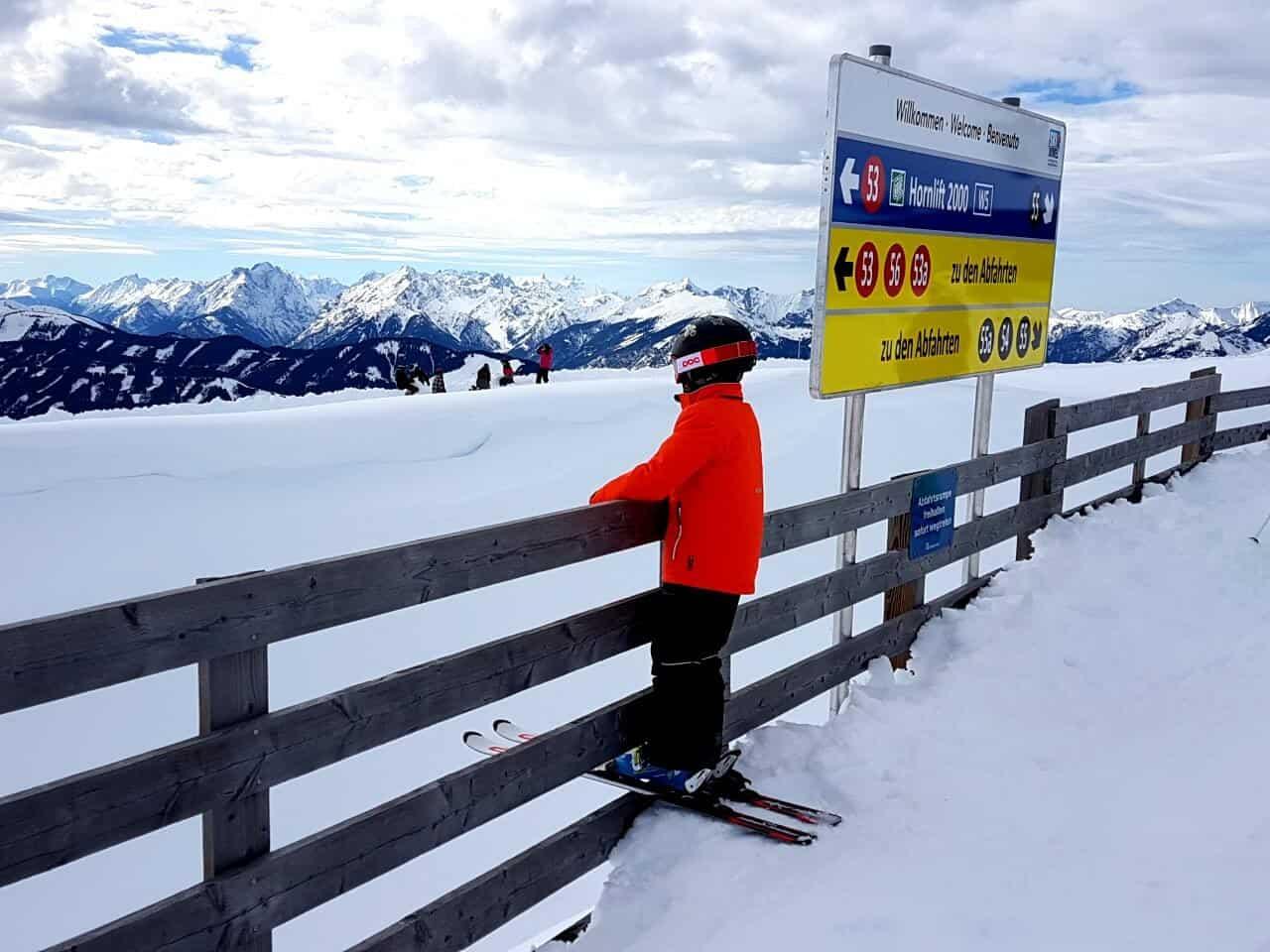 Alpbach skiing Hornbahn