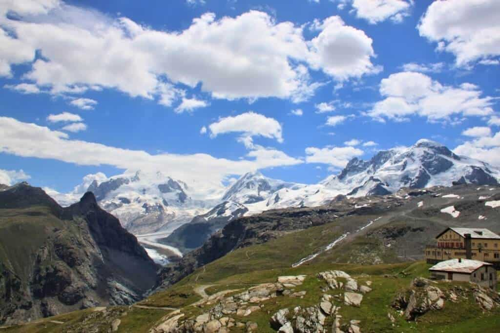 Swiss alps Switzerland winter