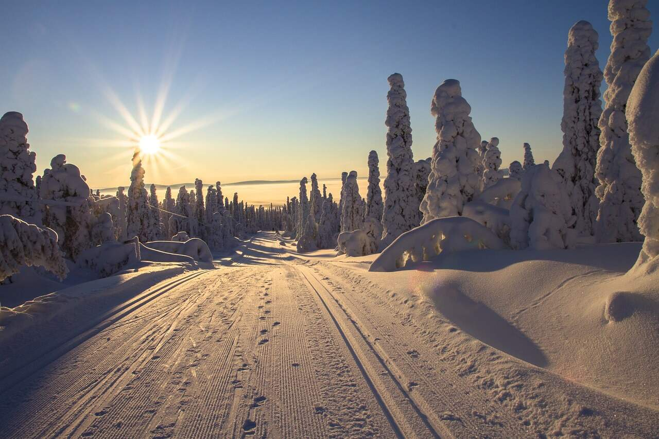 Lapland Finland in winter