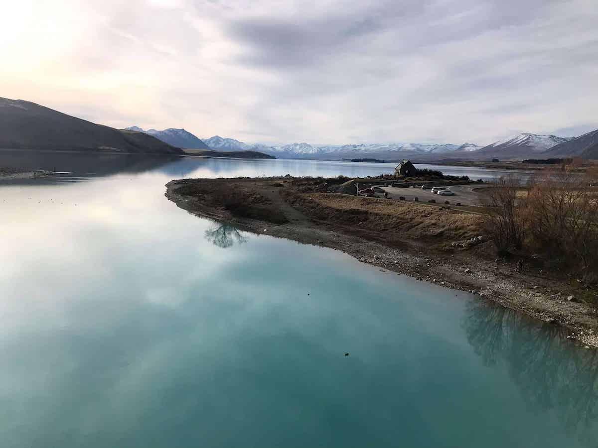 Beautiful views during winter in Lake Tekapo