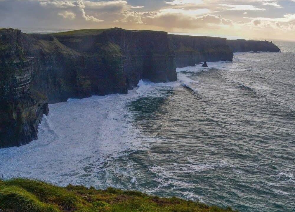 Cliffs of Moher wild Atlantic way road trip in Europe
