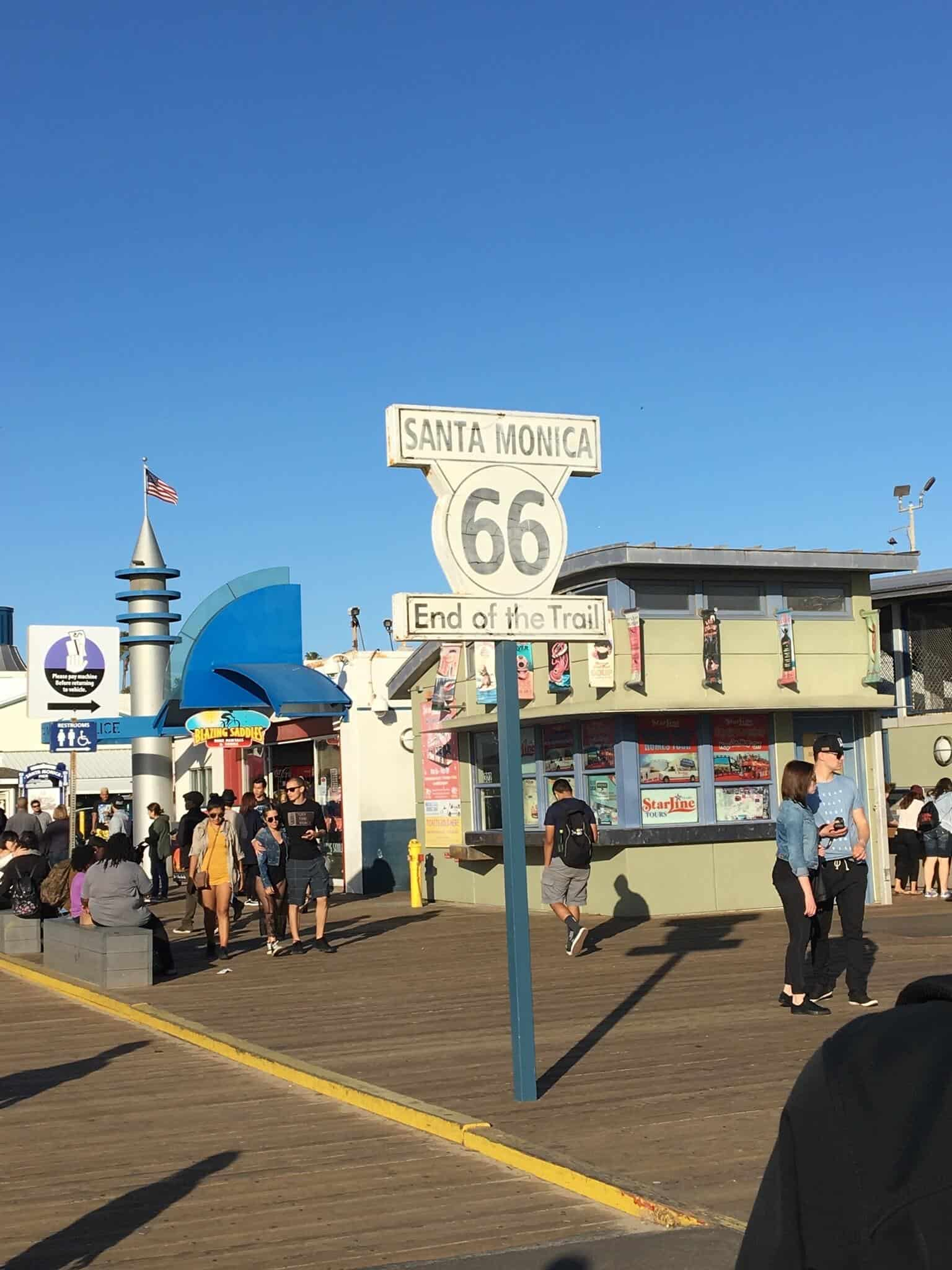 End of Route 66 trail - Santa Monica Pier