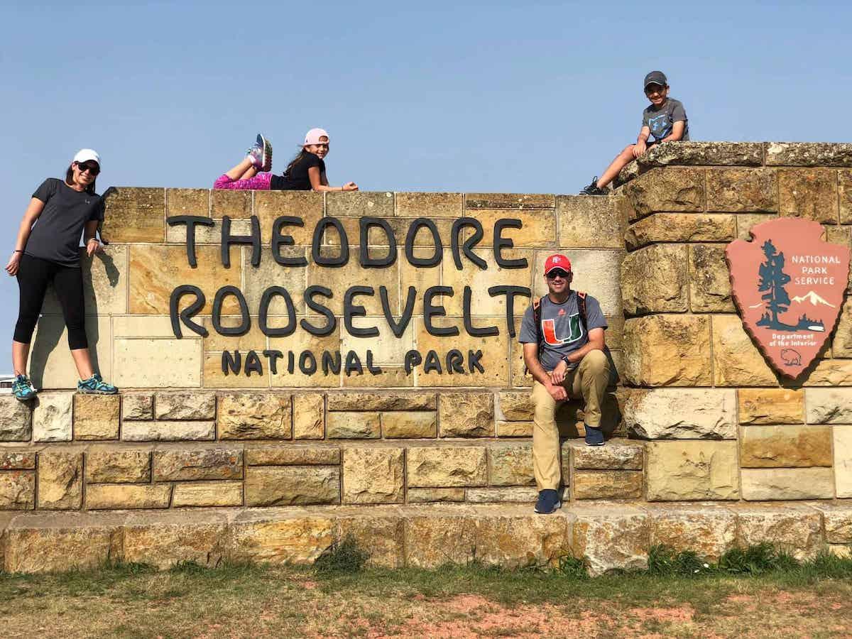 Western National Parks road trip route north dakota