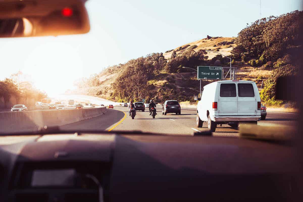Road trip up California highway