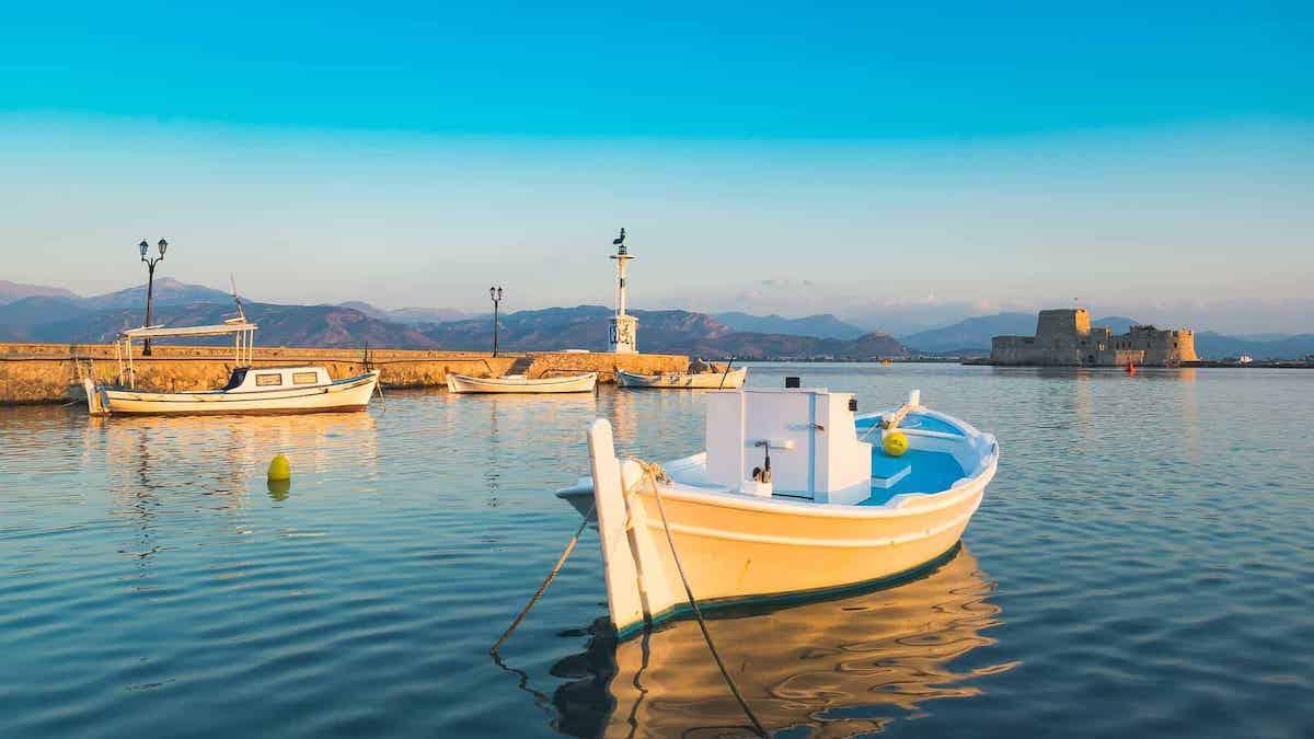 nafplio boat in water