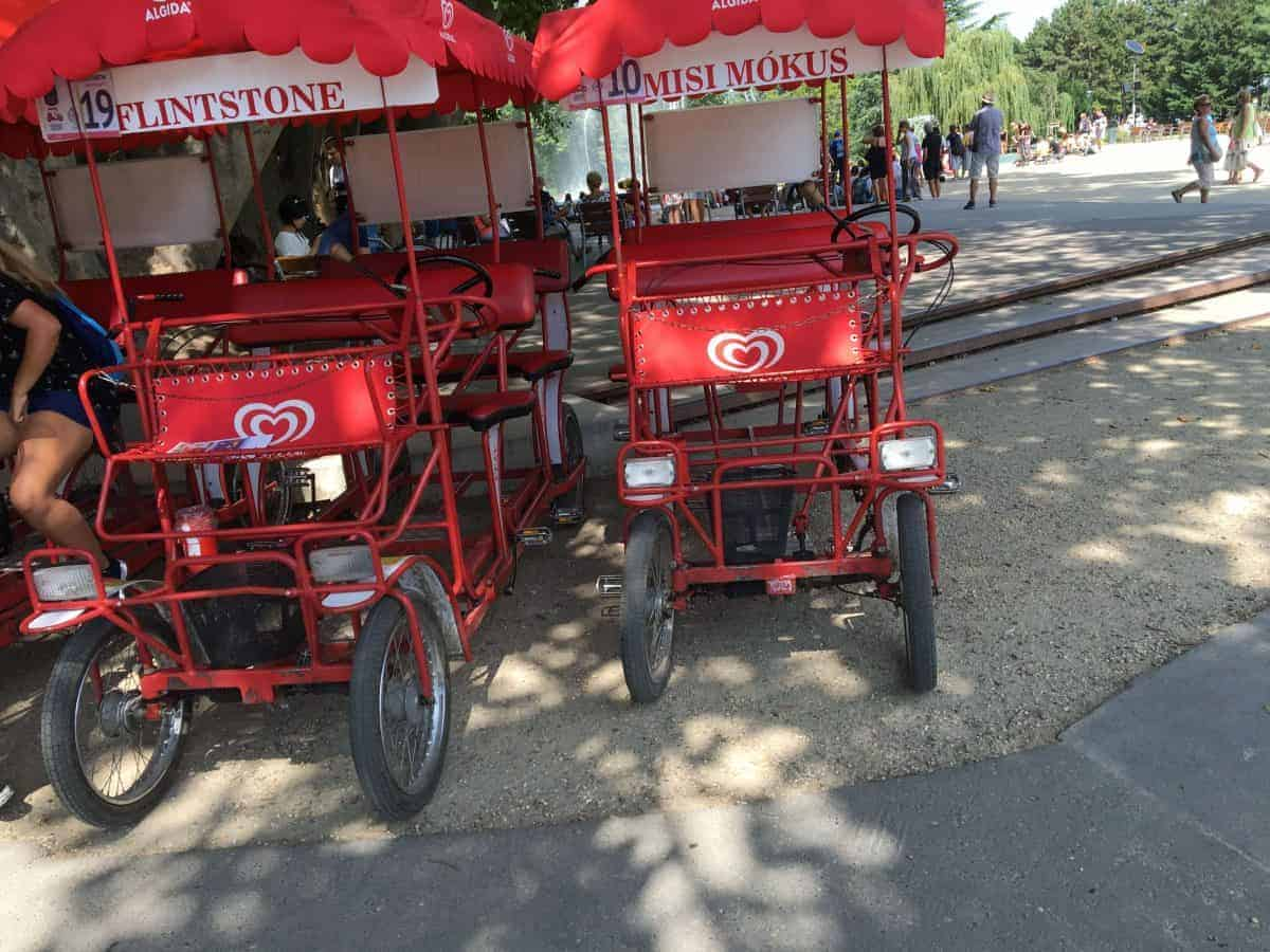 Margaret Island Budapest cart hire