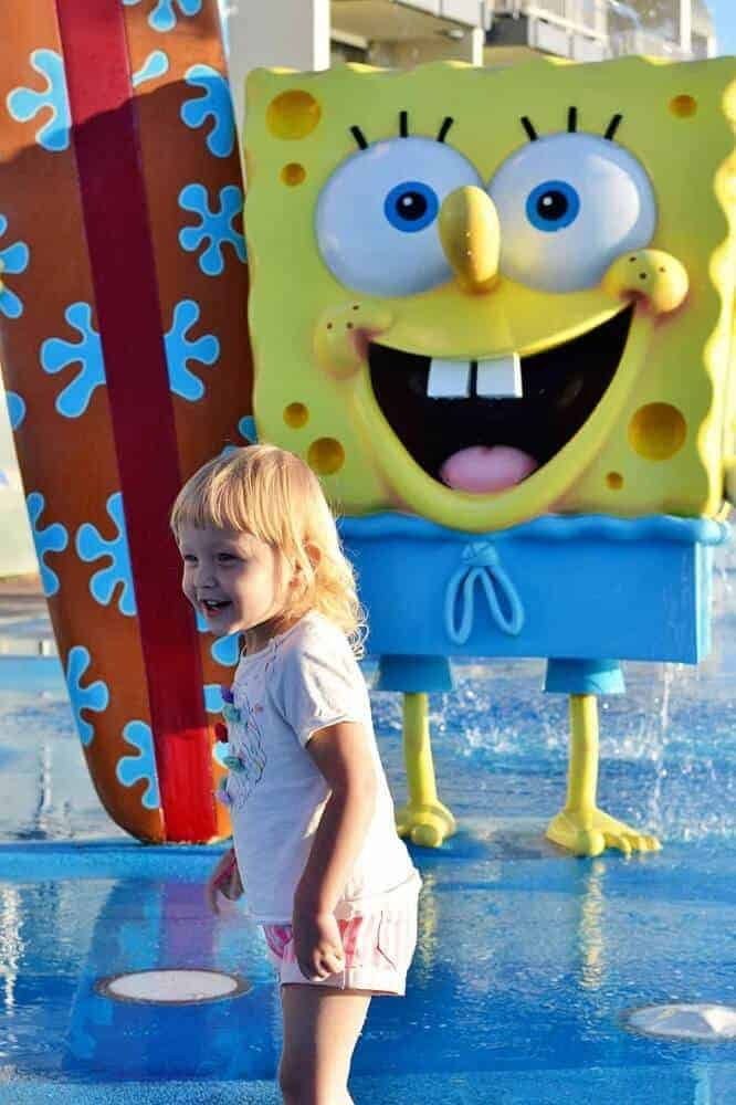 Playing at seaworld resort waterpark