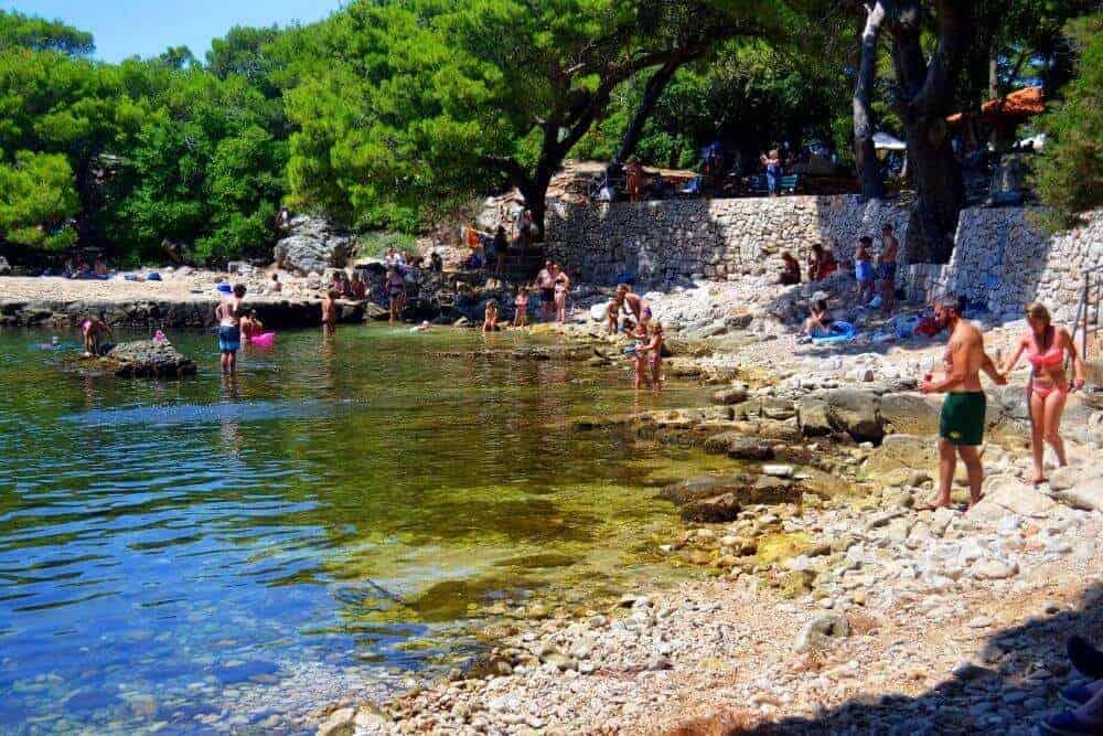 Lokrum Island dead sea lake