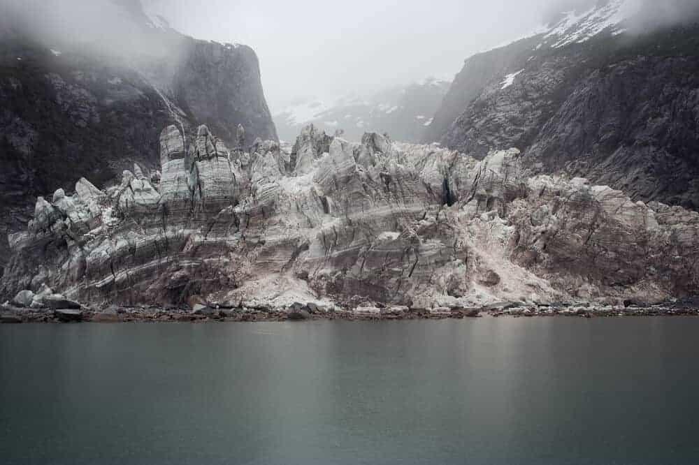 Glacier on heli tour
