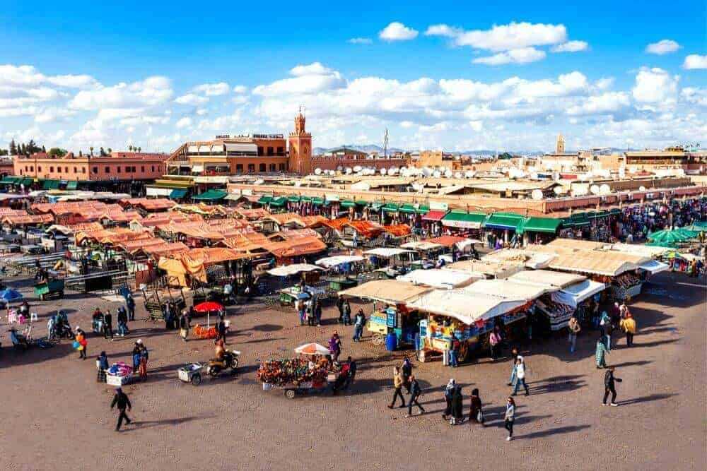 Jemaa El Fna Marrakech marketplace