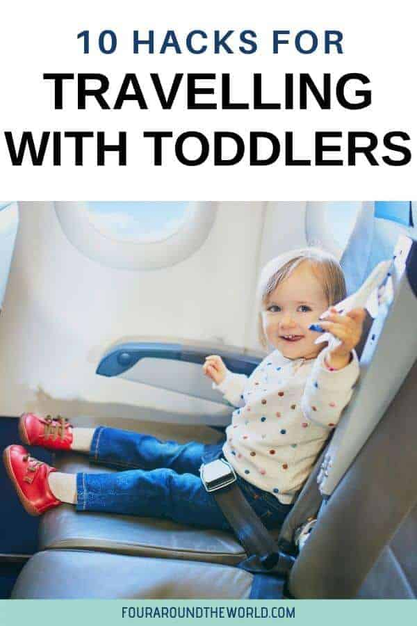 We share our top tips for travel with toddlers to help you make your life easier, from flying with toddlers to beyond the travel itself. Tips for making your travel time easier on your toddler and on the rest of the family. These toddler travel hacks are sure to make your time more enjoyable!
