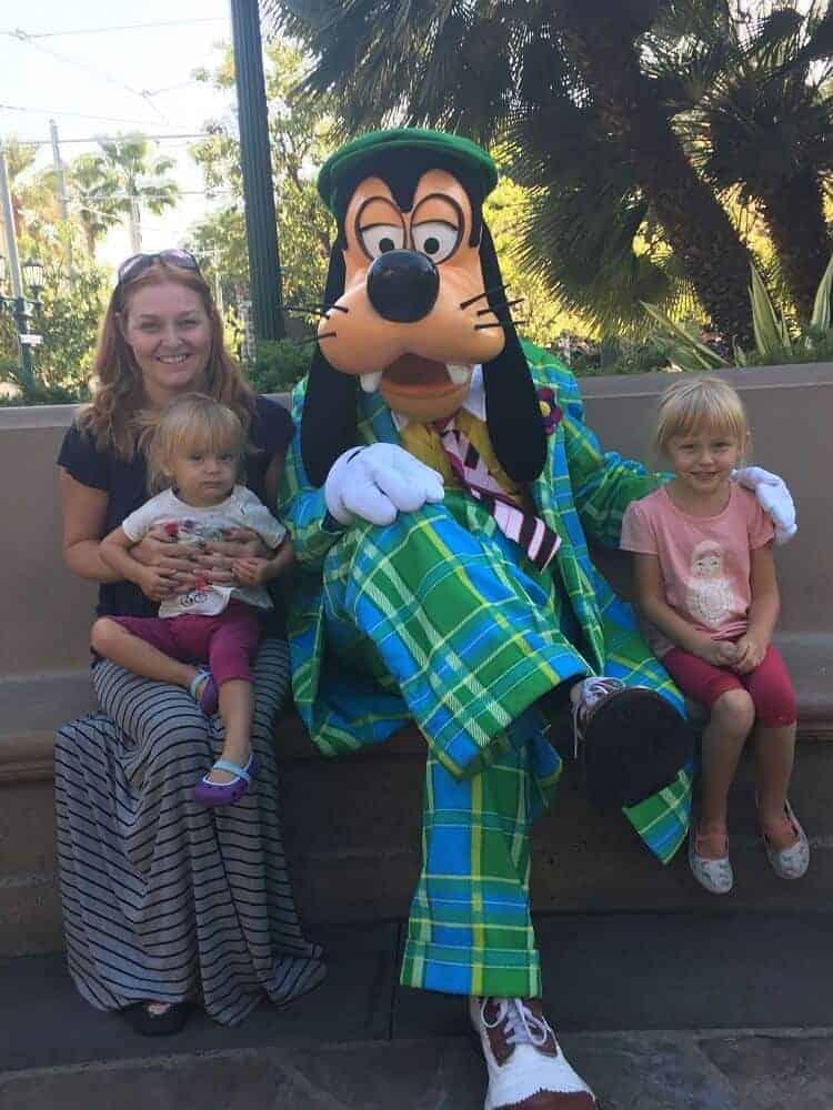 character meetings at Disney California Adventure park