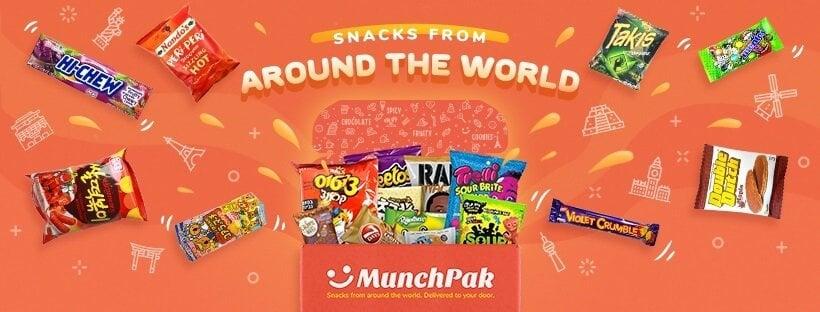 Munchpak international snack subscription kid's subscription boxes