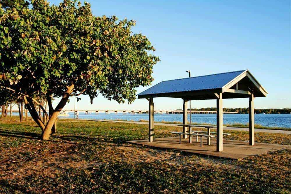 Bribie Island picnic bench