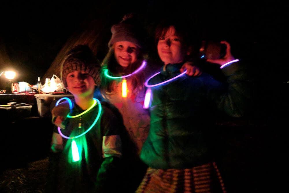 Glow stick dance party