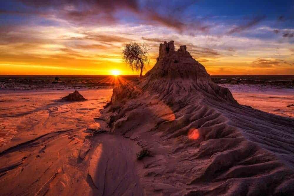 Mungo beach sand dunes