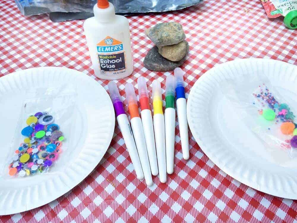 Rock painting activity for kids
