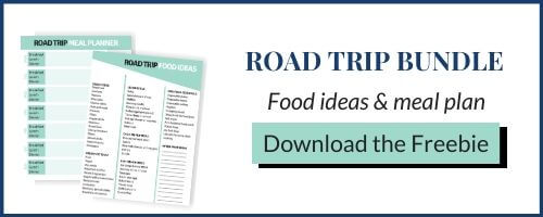 Road trip food list and meal plan printables