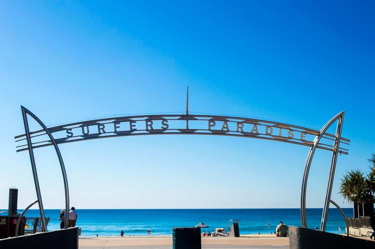 Surfers paradise sign Gold Coast