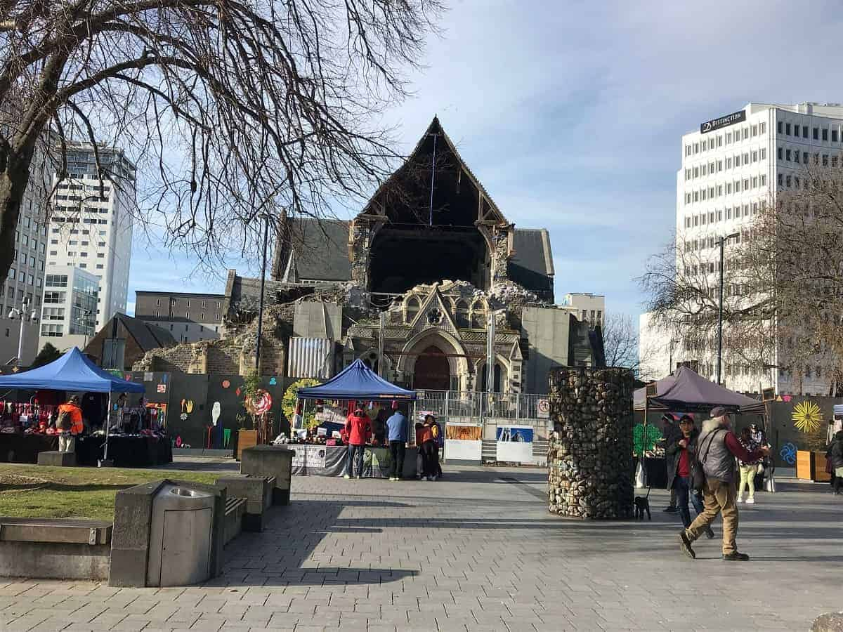 Cathedral in Christchurch after Earthquake