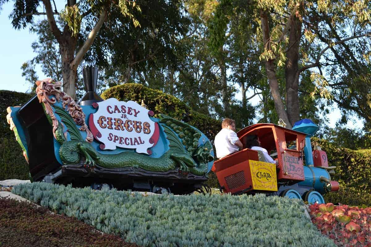 Casey Jr Circus Train Disneyland with toddlers rides