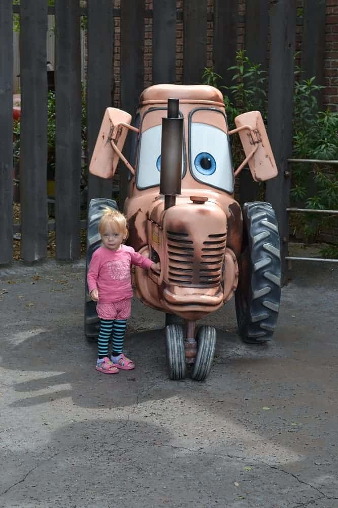 Toddler at Radiator Springs California Adventure Park