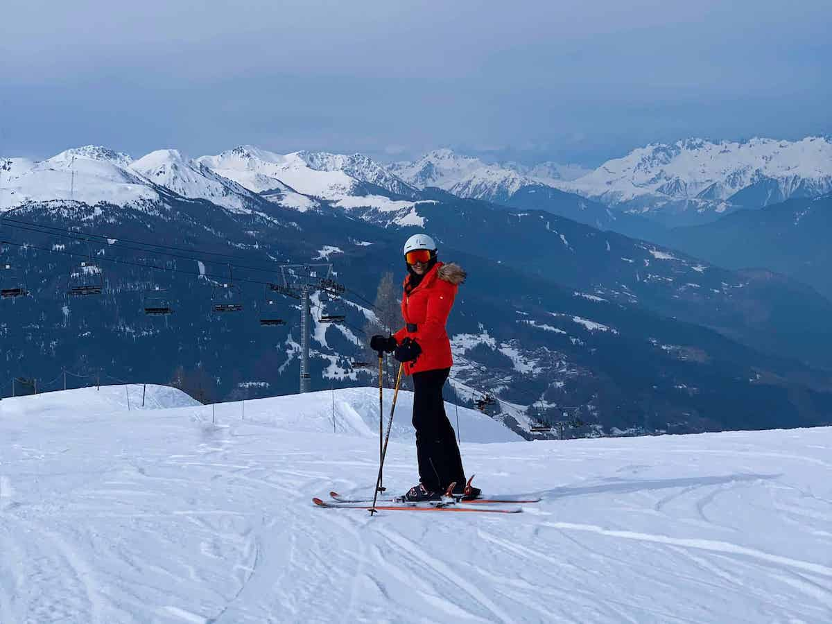 skiing in les arcs france