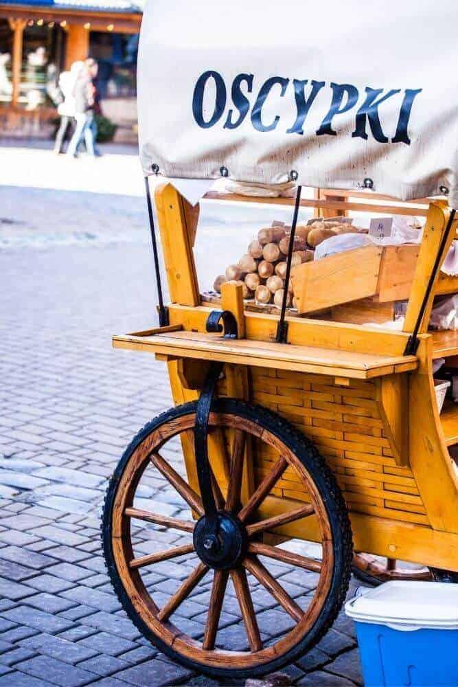 cheese stall in zakopane market