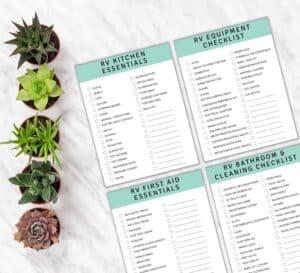 Printable RV checklist