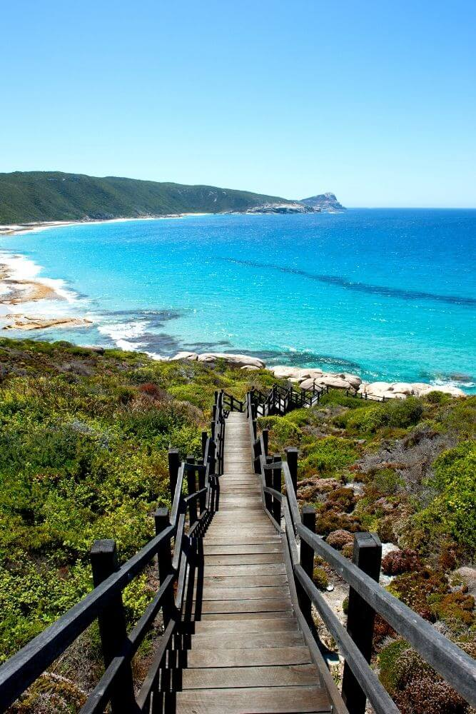 Albany walkway to beach