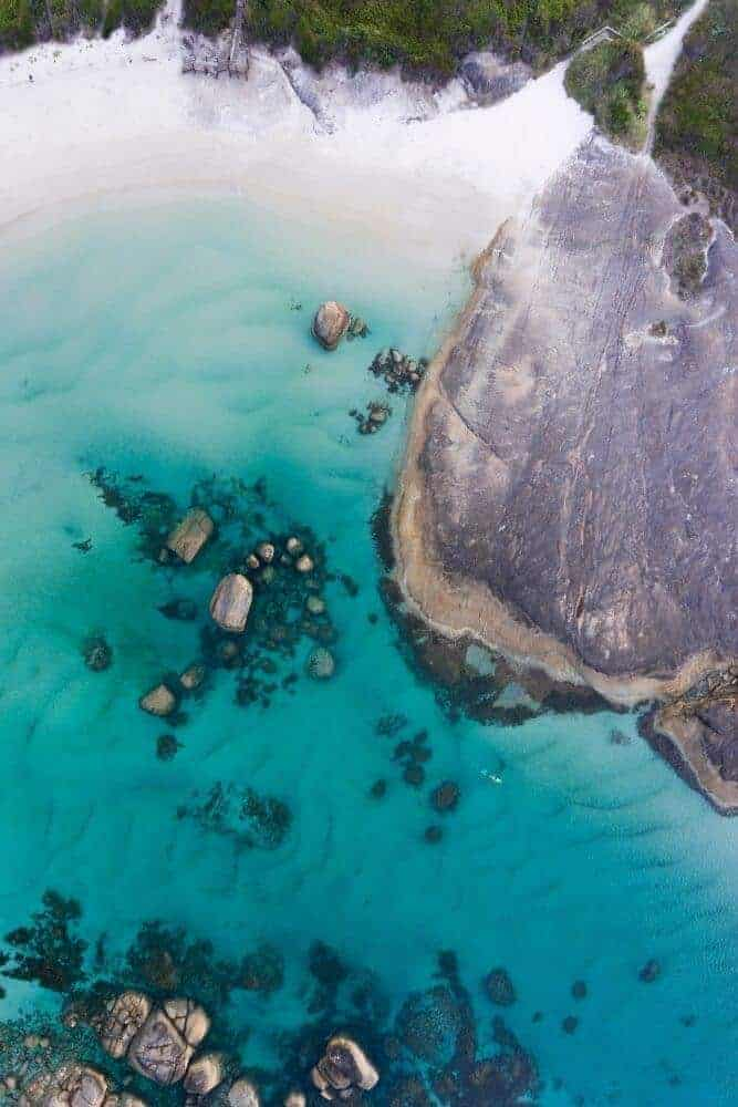 denmark greens pool aerial view