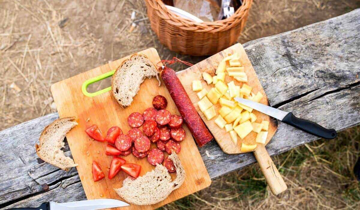 cheese platter for camping