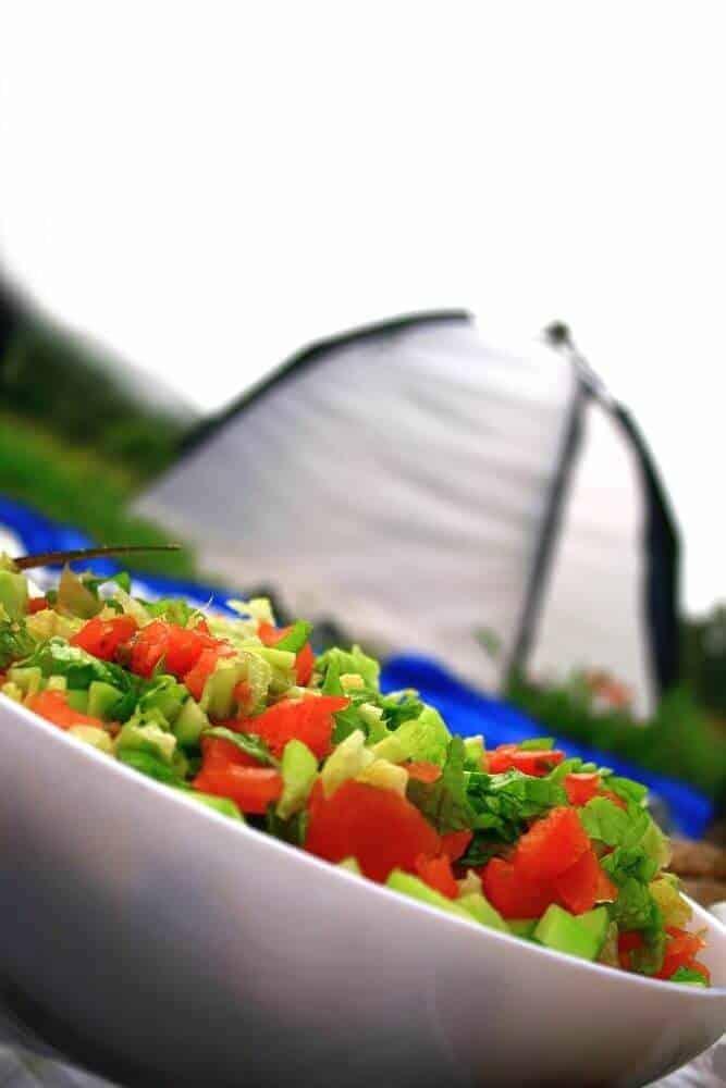 no-cook camping food salad